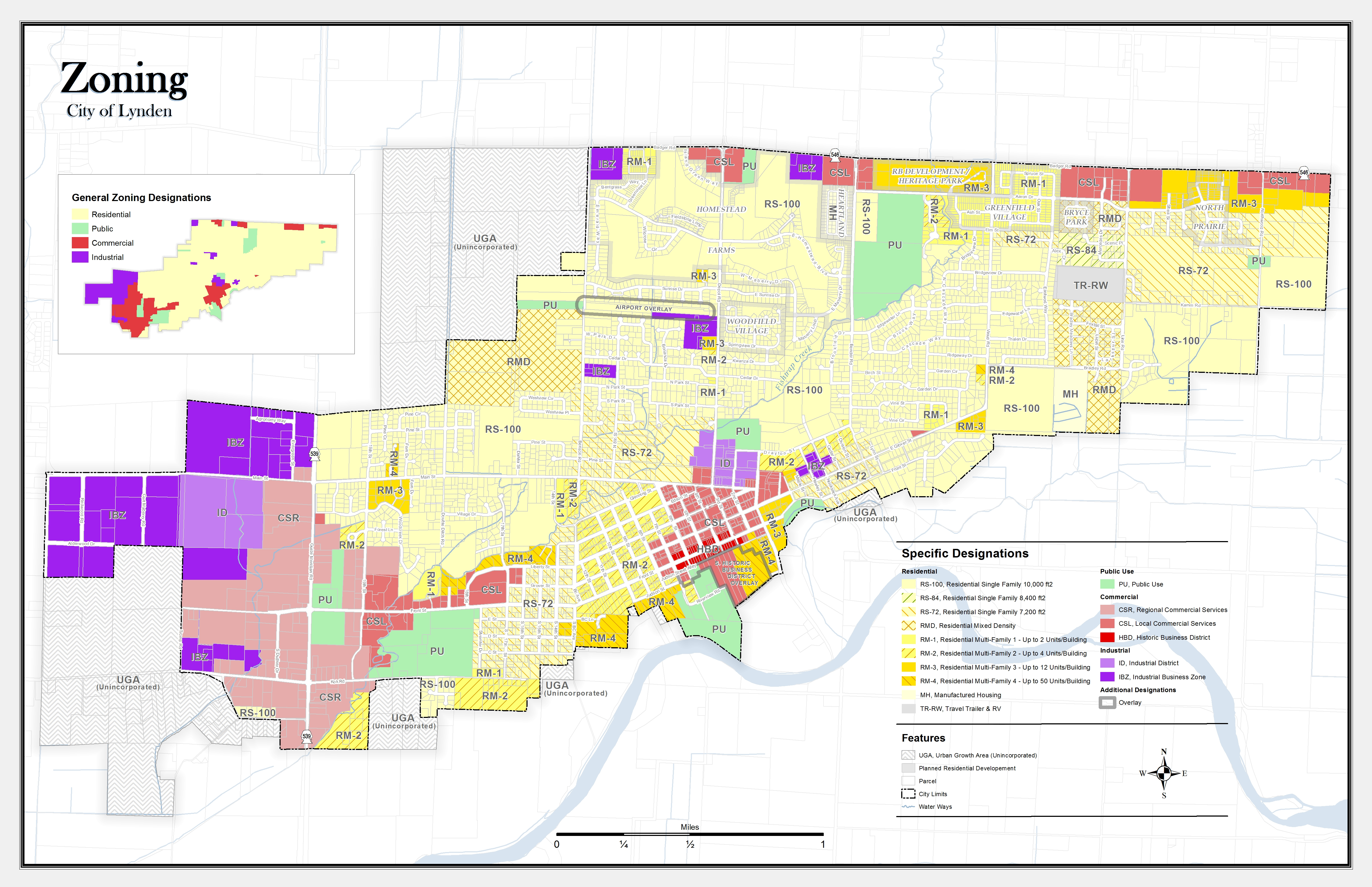 Whatcom County Zoning Map Lynden, WA Zoning Map (PDF) and Zoning Code | ZoningPoint